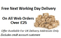 Free Next Working Day Delivery on orders over £25