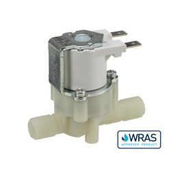 Hosetail connections, 2-way normally closed solenoid valve, 24V DC