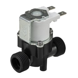 "1/2"" BSP male connections, 2-way normally closed solenoid valve, 240V AC"