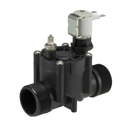 "Dirty water drain solenoid valve - 1¼"" BSP male connections, 2-way latching 12V DC"