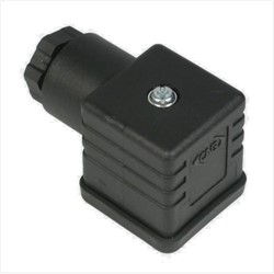 DIN IP65 Electrical connector – DIN 43650 Form A Pg9 with gland for cables sizes 6-8mm.