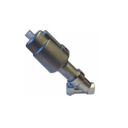 "1/2"" G (BSP) 2 way normally closed angle seat valve pneumatically operated 0-16 bar"