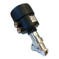 "1/2"" G (BSP) 2 way normally closed angle seat valve pneumatically operated 0-35 bar"