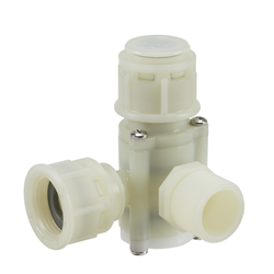"Automatic shut off inline filter ¾"" -¾""  BSP 90º  washable 49 MESH - WRAS approved"