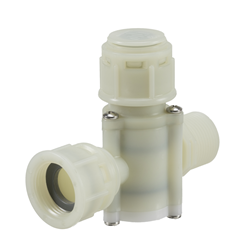 "Automatic shut off inline filter ¾"" -¾""  BSP 180º  washable 49 MESH - WRAS approved"
